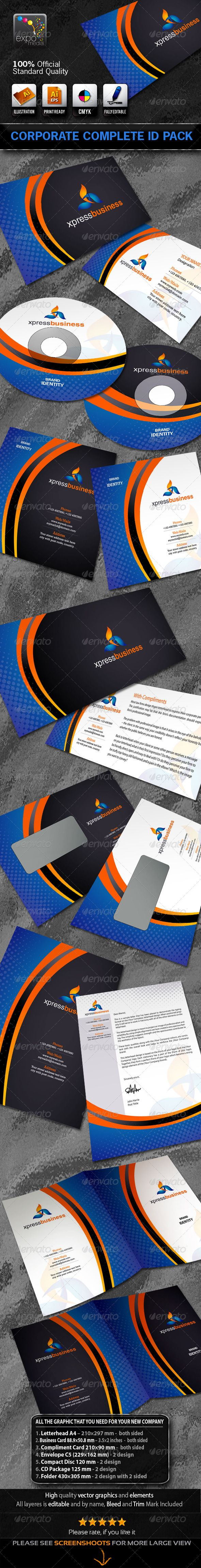 Xpress business corporate stationery id package pinterest xpress business corporate stationery id package graphicriver file information letterhead a4 210297 mm both sided business card 889508 mm 352 reheart Images