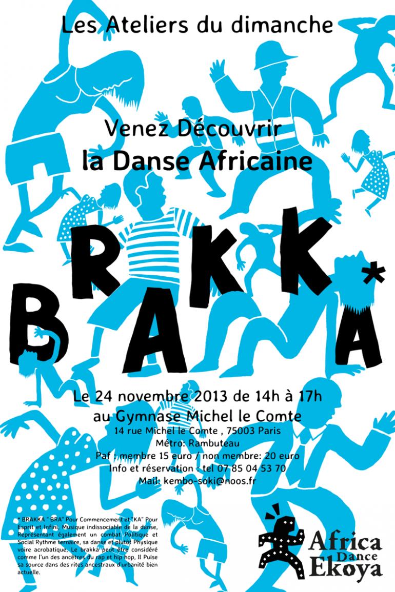 Alexandre sawickis design studio poster for an african dance school affrica dance ekoya