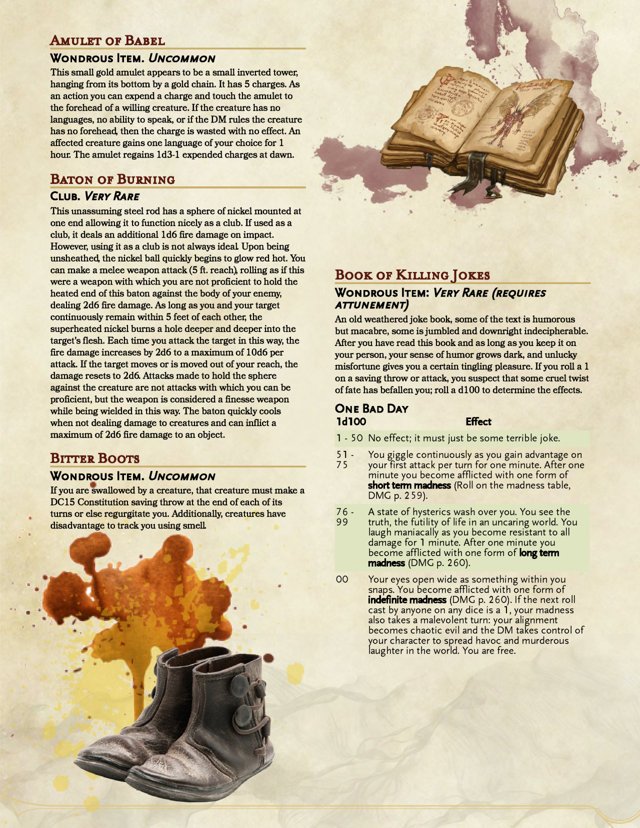 DnD 5e Homebrew — MAgnificent Magic Items by Vecna_Is_My_Co