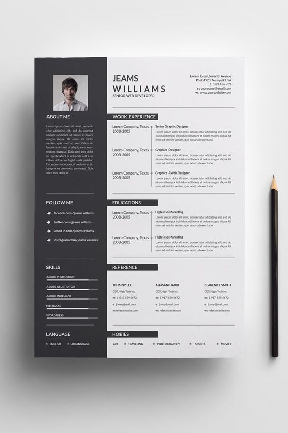 Some resume templates for ms word may not look exactly the way they appear in the mockups when opened in google docs. Resume Design Template Modern Resume Template Word Free Etsy Resume Design Template Graphic Design Resume Minimalist Resume Template