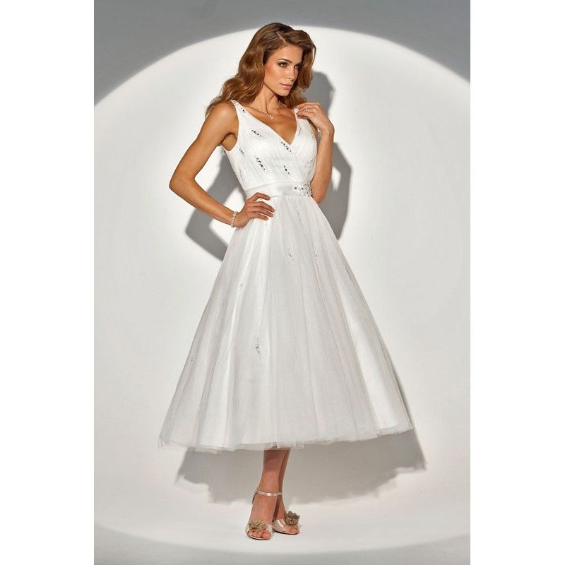 Tea Length Second Wedding Dresses
