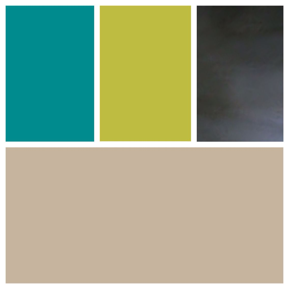 SW Barcelona Beige walls, SW Nifty Turquoise and SW Hep Green accent ...