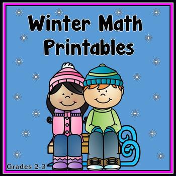 Winter Math Printables - Grades 2-3   Math, Elementary math and Math ...