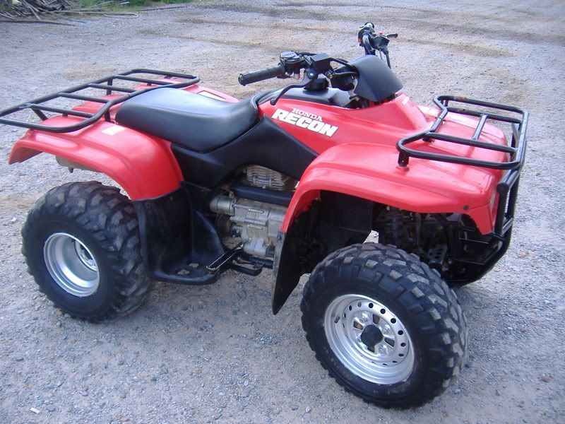 2001 Honda Recon Rode A Lot Of Hours And Pulled Many Deer Out Of The Woods With This Guy Honda Riding Riding Lawnmower