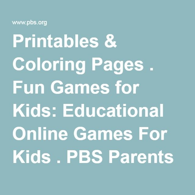 Use The PBS KIDS Activity Search To Find Printables Coloring Pages Online Games And More
