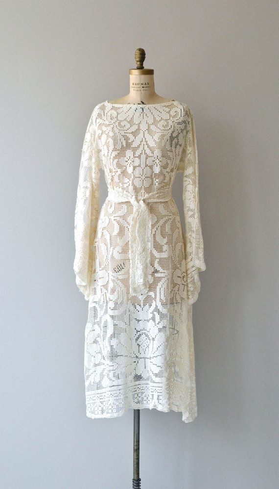 Old World dress vintage 1970s bohemian lace wedding by DearGolden