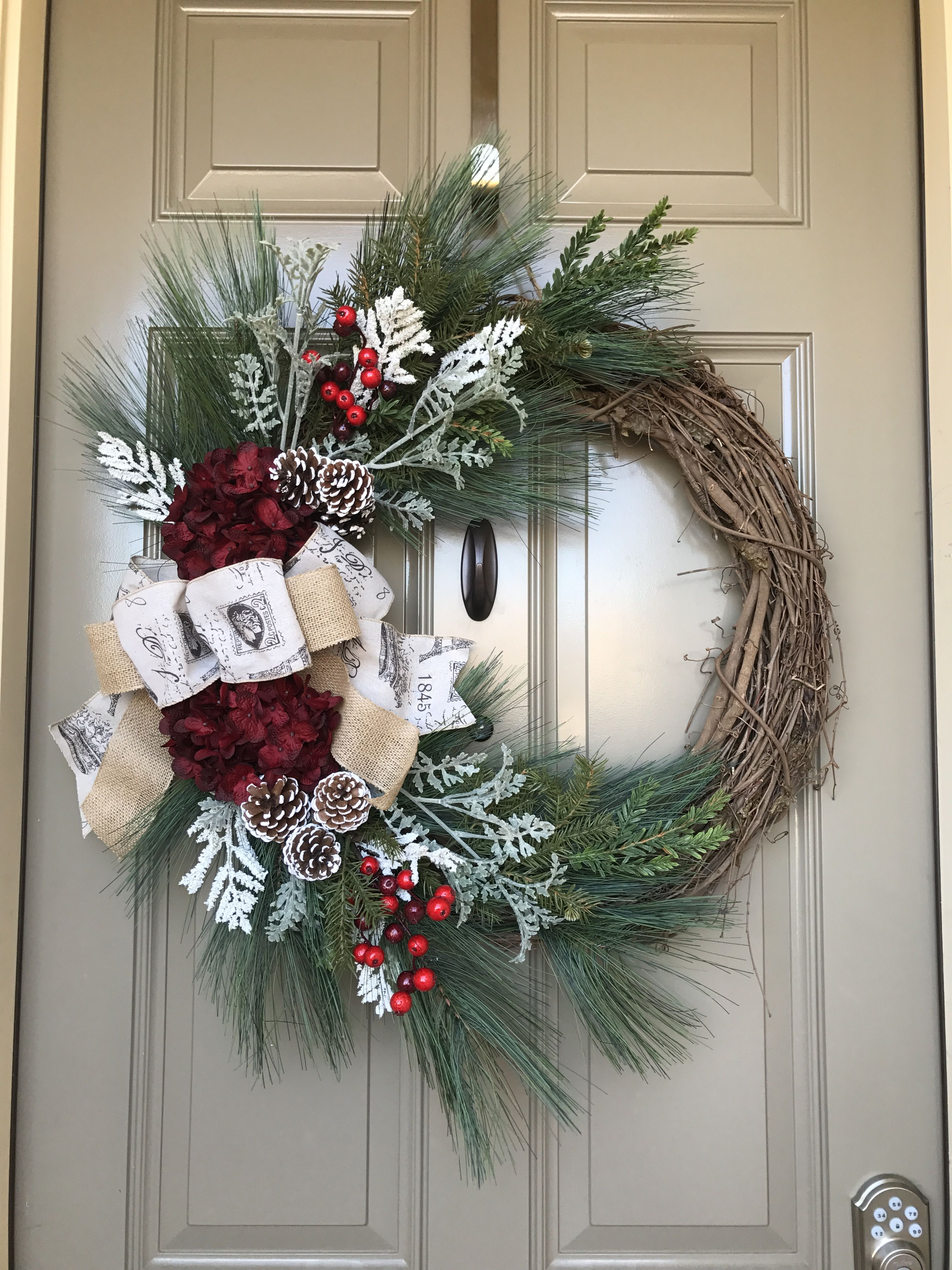 Grape vine Christmas wreath | It\'s beginning to look a lot ...