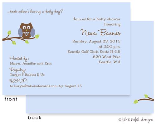 Baby Shower Owl Invitations