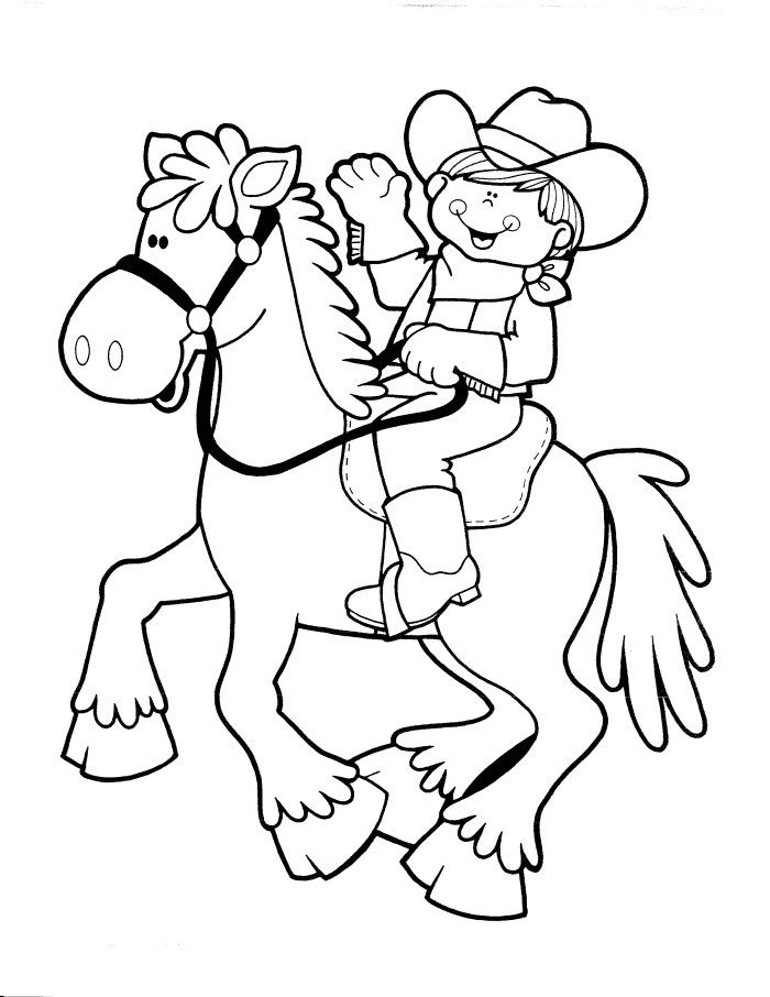 Cowboy Coloring Pages Free