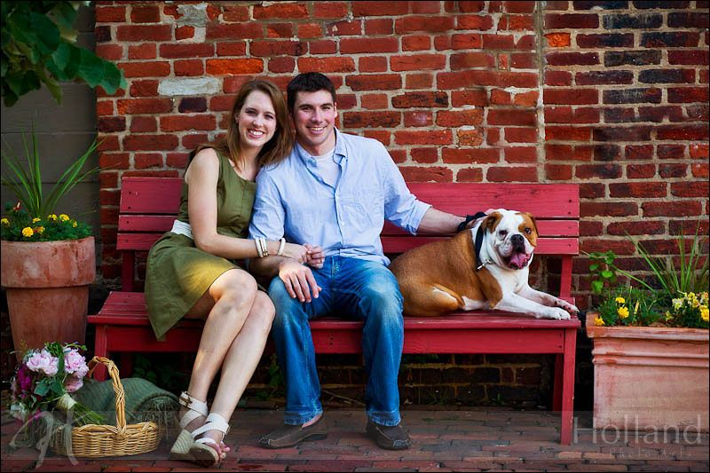 Engagement Session with dog, Alexandria, Virginia #Engagement, Shannon & Dave with Parker, Image by Holland Photo Arts