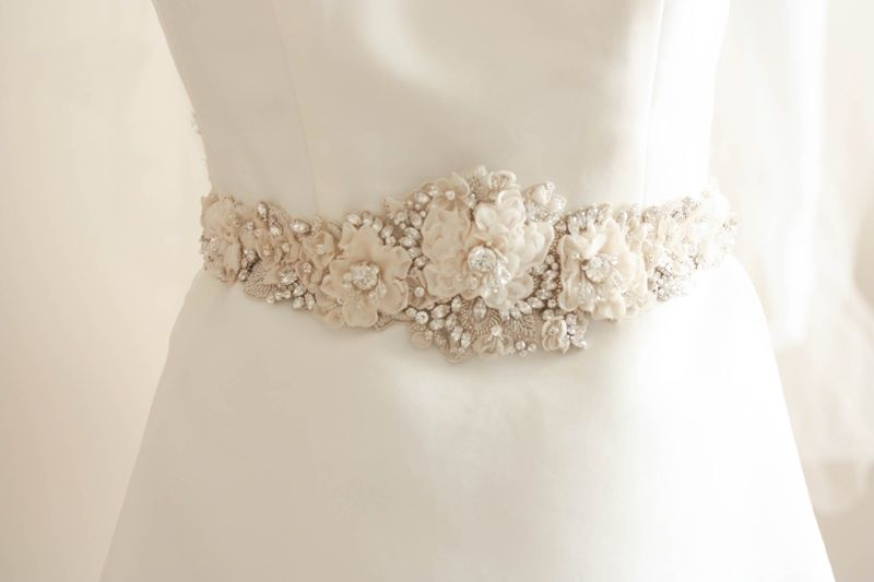 Haute Couture Wedding Gown Belt Allyson James | Bridal Belts/Sashes ...