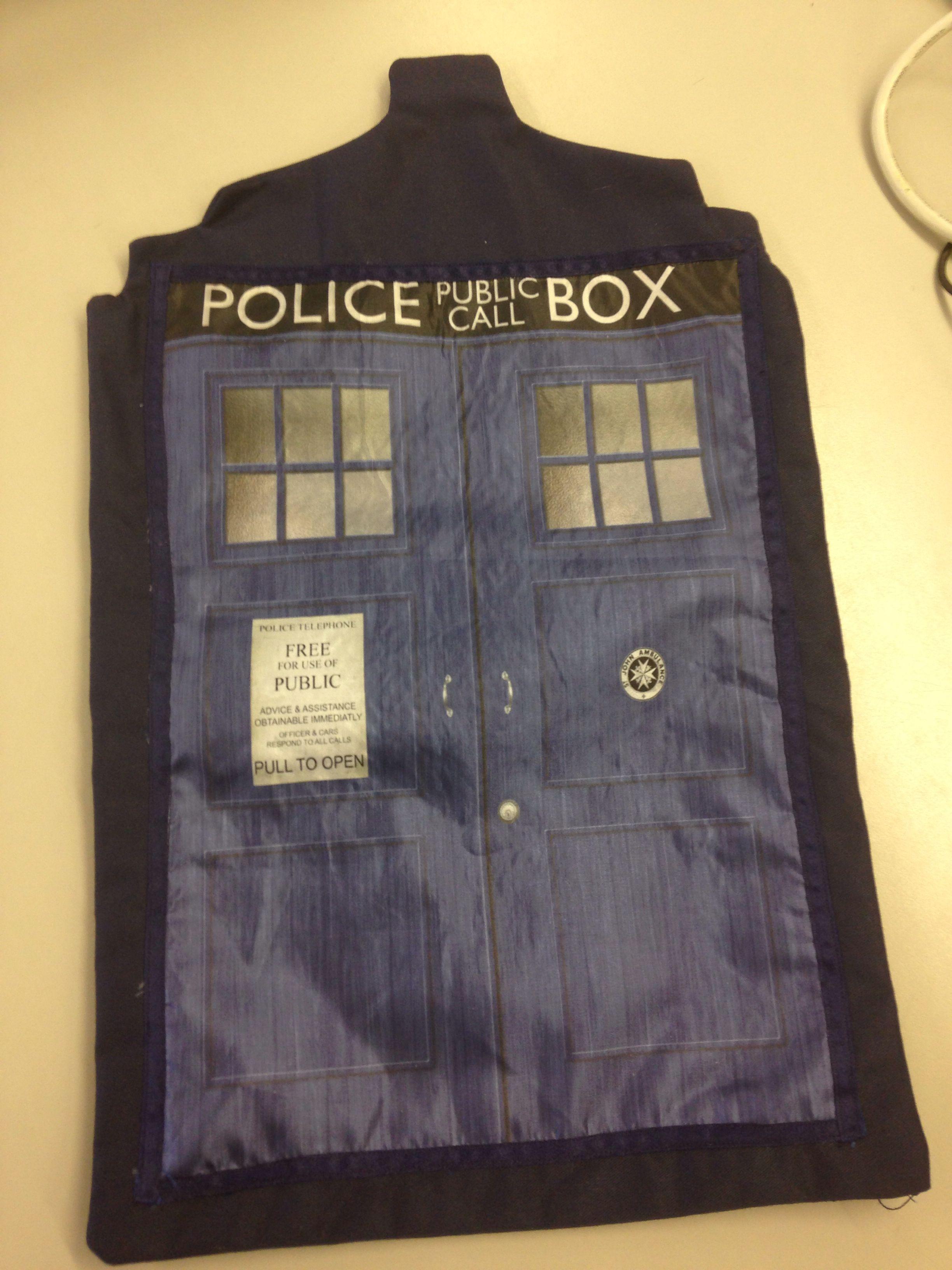 The TARDIS using dye sublimation printing Dye Sublimation