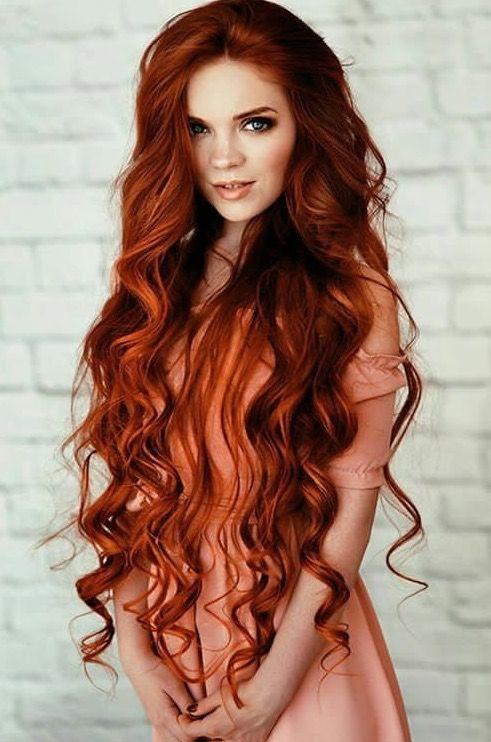 Beautiful woman long hair