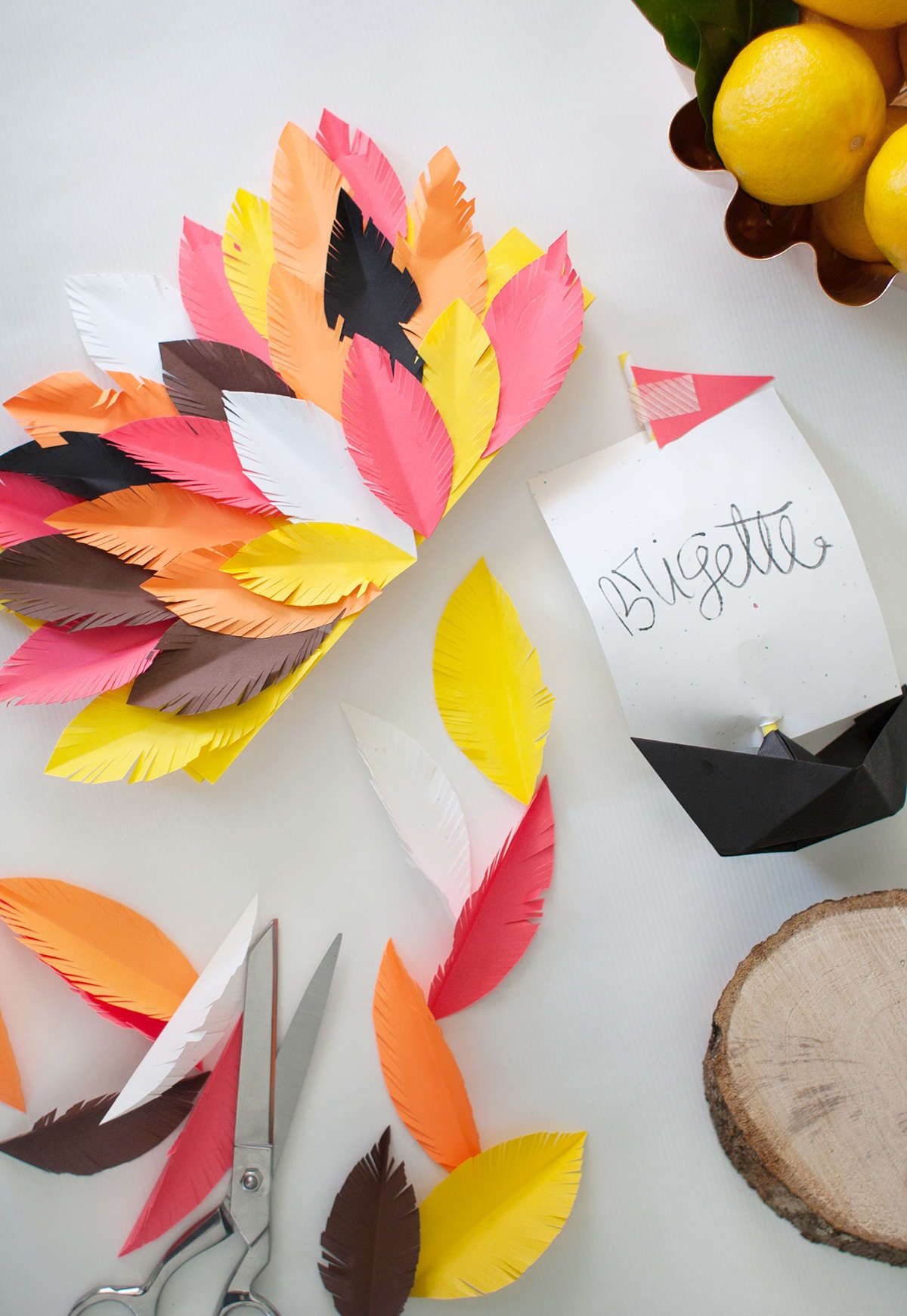 DIY Thanksgiving Table Decor with Astrobrights