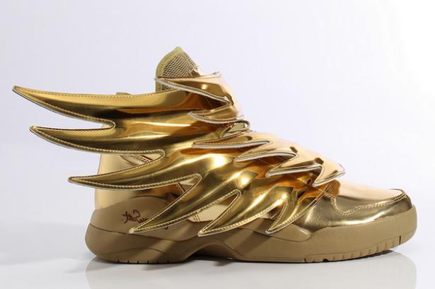 Tennis Metálicos Lo Más Hot De La Temporada Adidas Originals X Jeremy Scott Adidas Wing Shoes Wing Shoes Gold Shoes