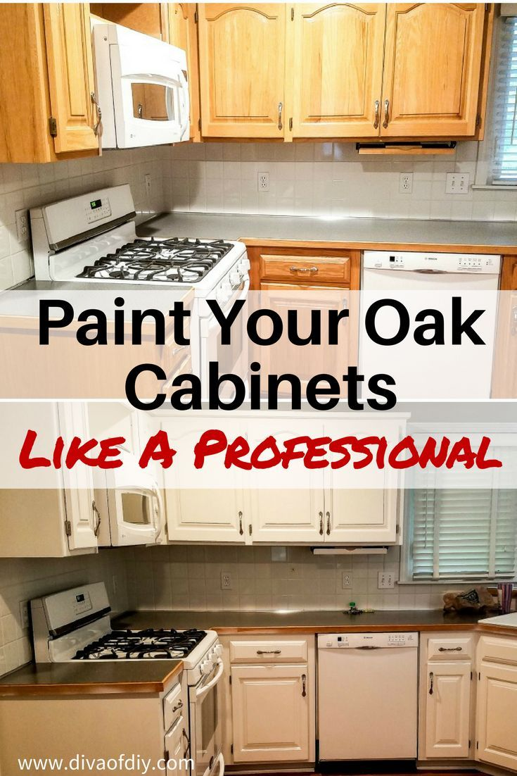 Oak Cabinet Makeover How To Paint Like A Professional Old