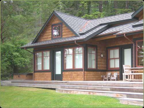 Cedar Shingle Siding The Guest House Has Western Red Cedar Shingle Siding Shingle House Cedar House Siding Small Lake Houses