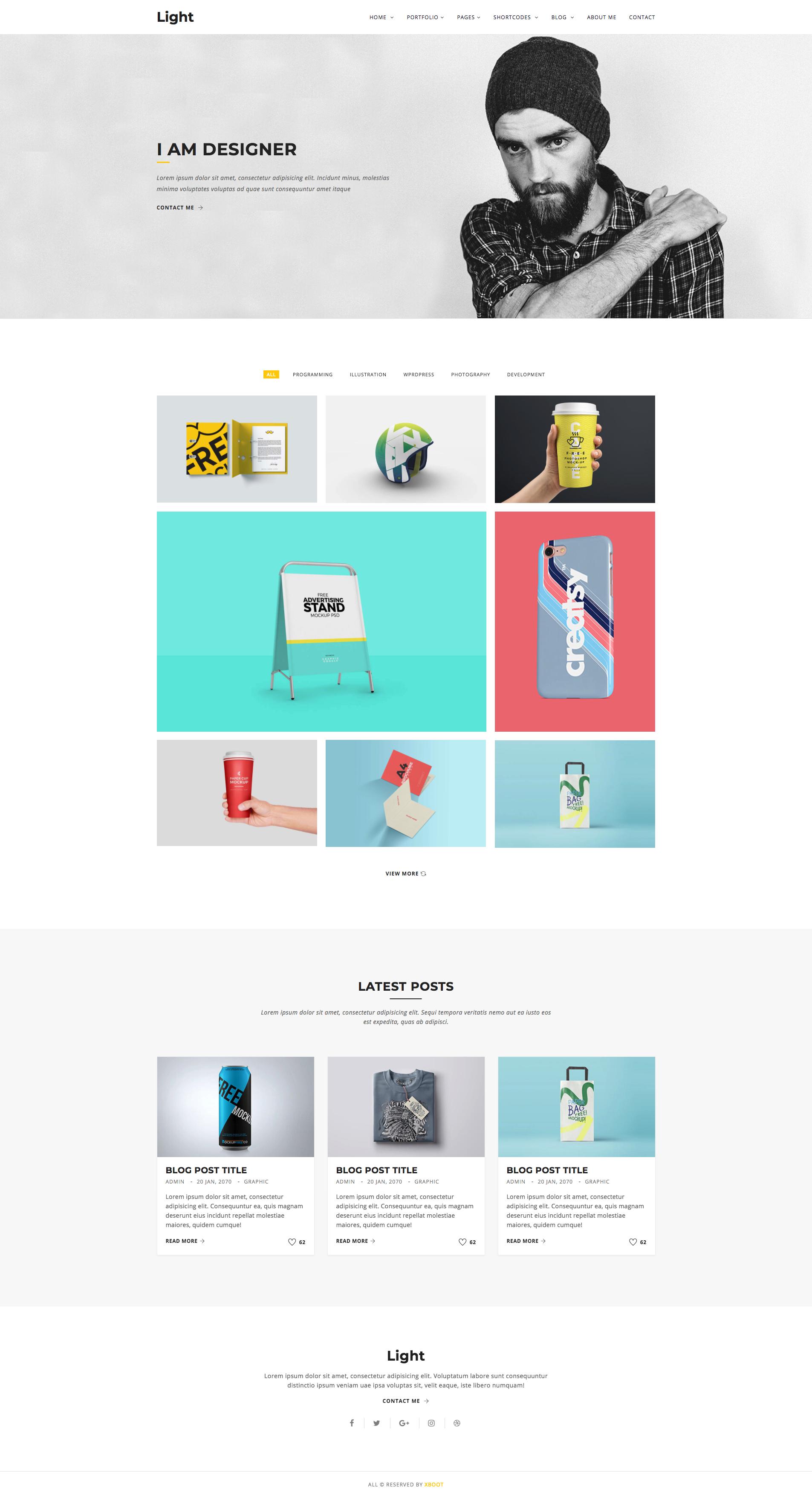 Light Minimal Portfolio Template is a high quality creative HTML5