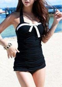 Beach Essential Halter Design Black Swimwear for Woman - Online Shop! : Online Shop!