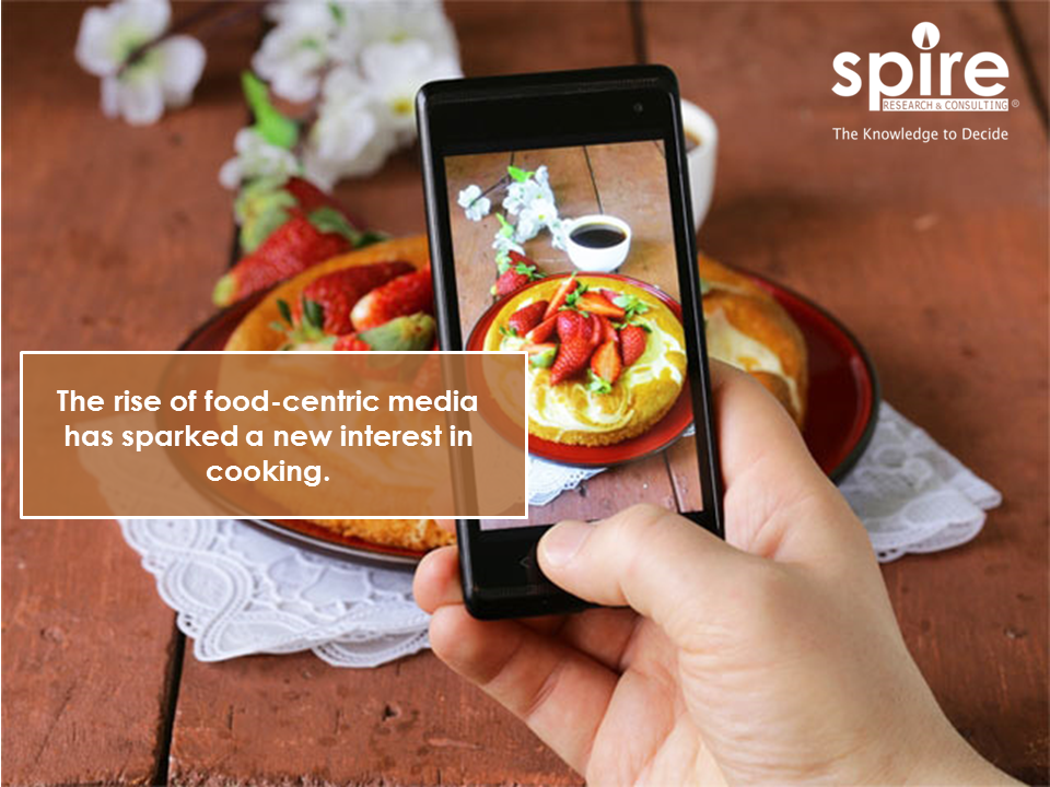 the rise of food centric media has sparked a new interest in cooking spire food2017 foodindustry cooking nourishment creations socialmedia trivia