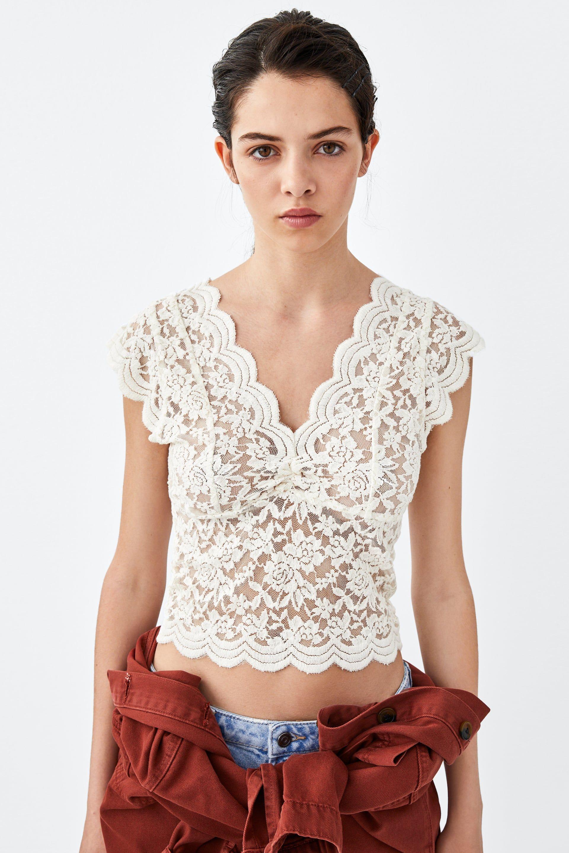 Image 3 de TOP EN DENTELLE de Zara | Top