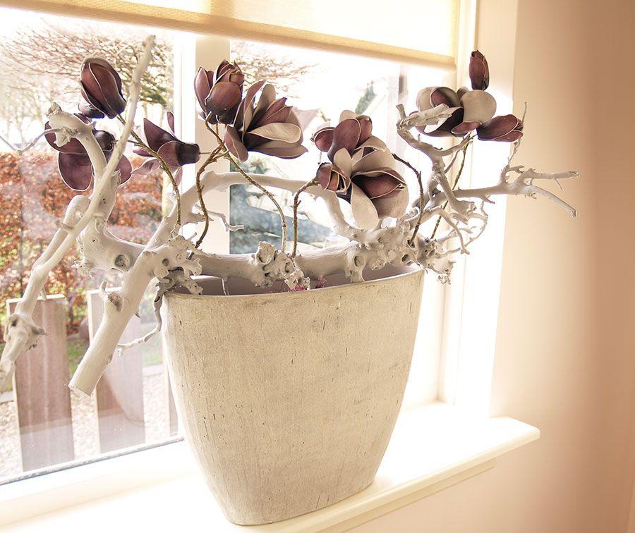 Easy living bloemdecoraties pinterest vensterbank for Decoratie vensterbank