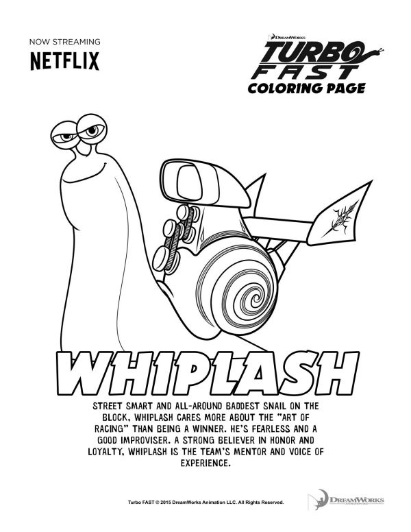 Turbo Fast Whiplash Coloring Page Fiesta