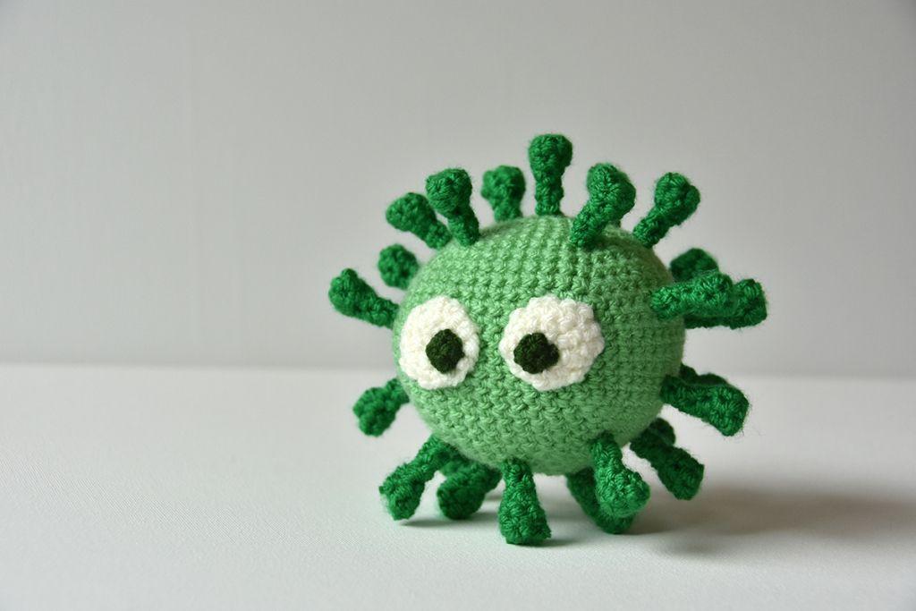 Corona Virus Crochet Pattern / Corona Virus Haakpatroon – Häkeln