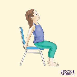 chair yoga poses for kids cards  yoga