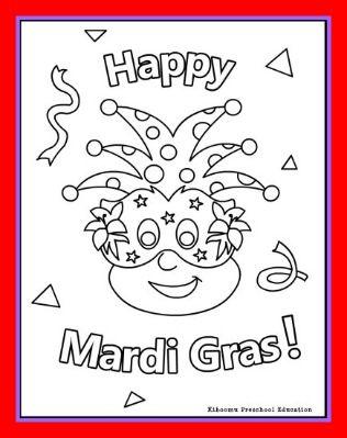 Happy Mardi Gras Coloring Page And Song Kiboomu Kids Songs Mardi Gras Activities Mardi Gras Kid Mardi Gras Crafts