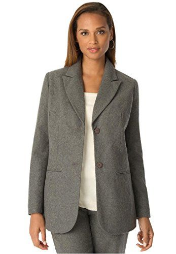 Jessica London Women&39s Plus Size Petite Wool Blazer With Notch