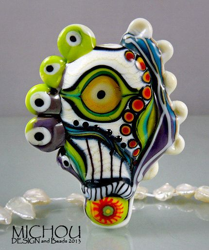 Art Glass Focal Bead By Michou P Anderson Beads
