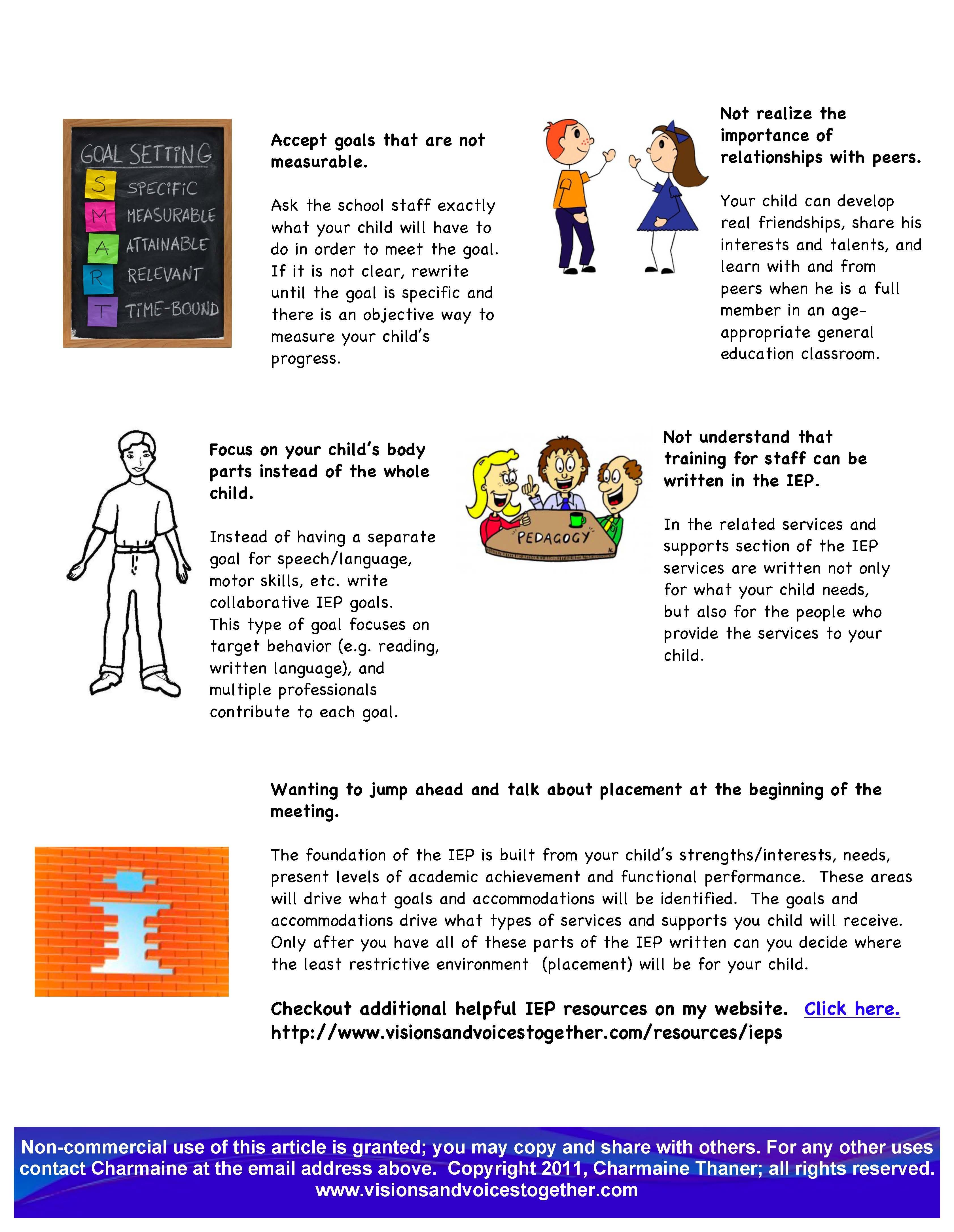 Ten Mistakes to Avoid During IEP Meetings page 2 Aaron