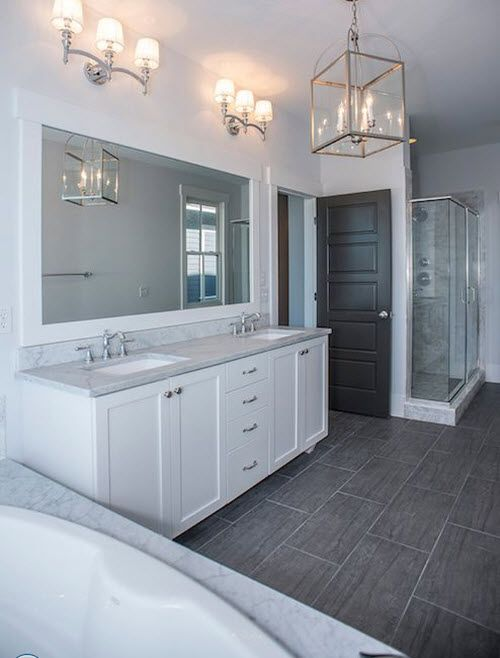 Unique Grey Bathroom Floor Cabinet
