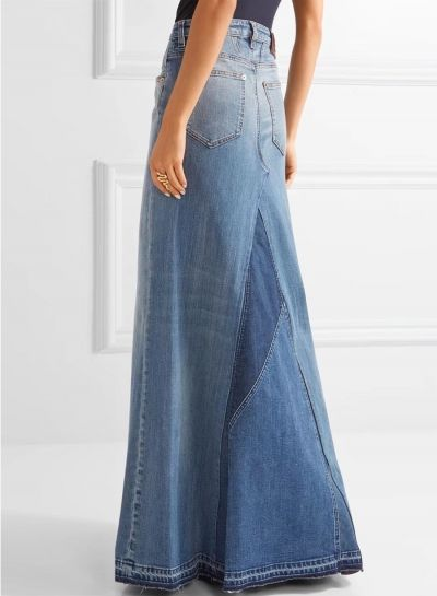 f5c27502e Women's Fashion High Waist Denim Maxi Skirt in 2019 | skirt | Denim ...