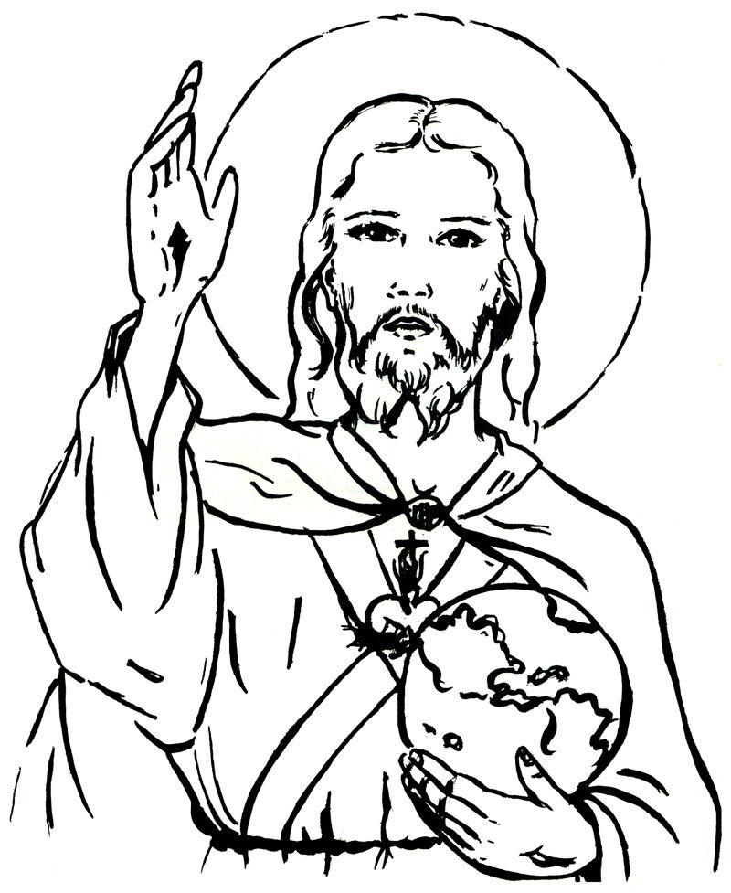Catequese Com Carinho Sagrado Coracao De Jesus Desenhos Para