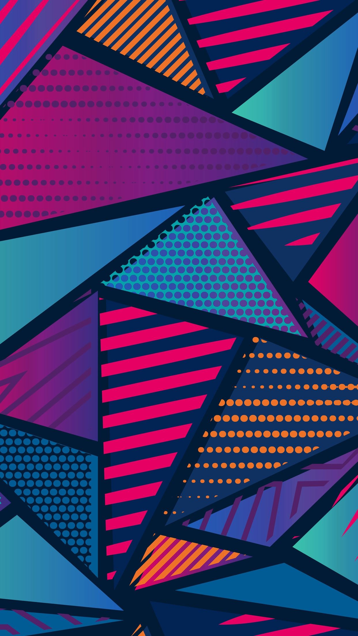 Free Colorful Geometric Wallpaper: Cellphone Background / Wallpaper