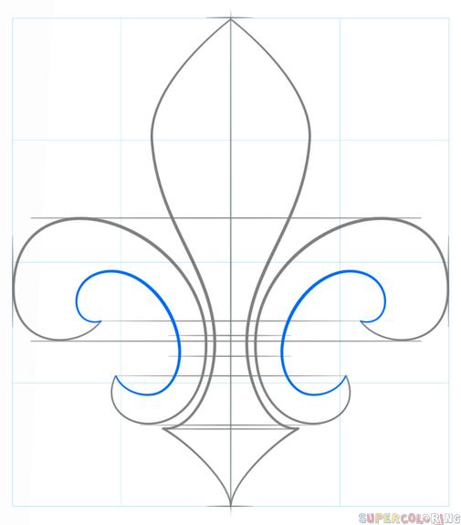 Cómo Dibujar La Flor De Lis Tutorial De Dibujo Paso A Paso