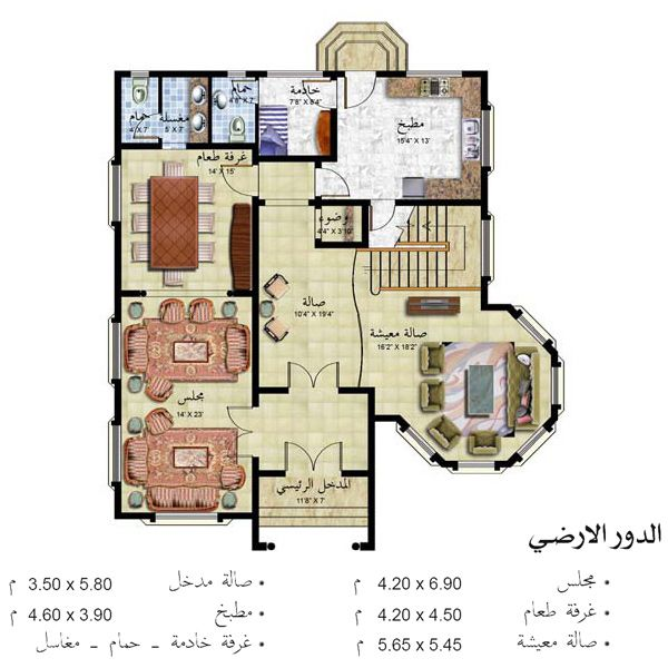 تصاميم منازل Indian House Plans House Map Luxury House Designs