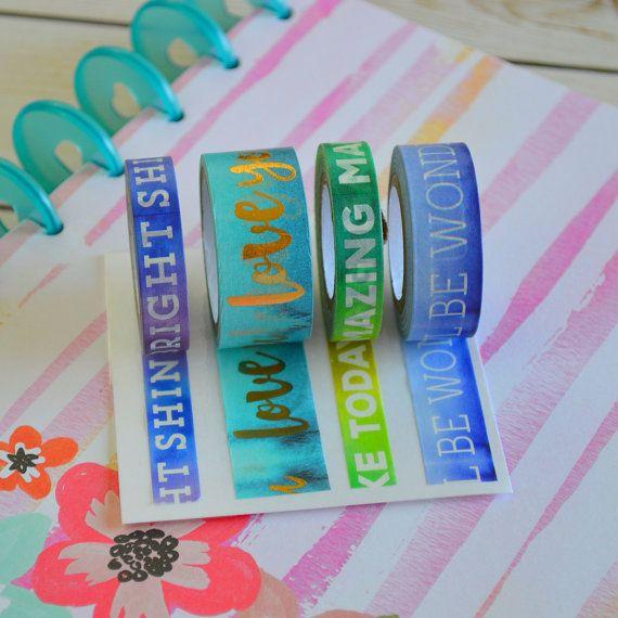 Washi Tape Samples for Filofax, Kikki K, Erin Condren, Happy Planner and Kate Spade planner