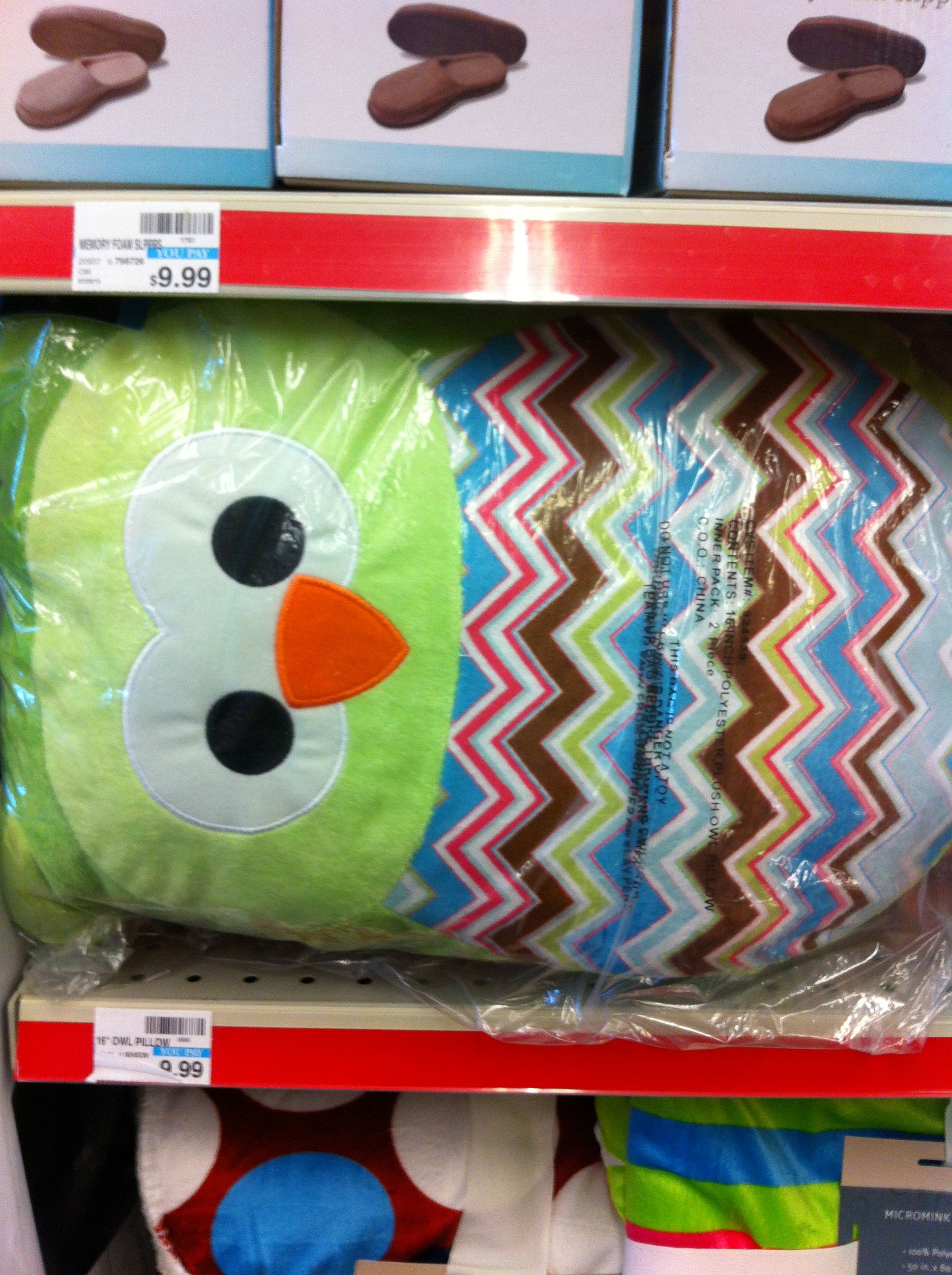 Super Huge Owl Pillow With Chevron Belly From Cvs Back To Camellatalisay Diy Chair Ideas Camellatalisaycom
