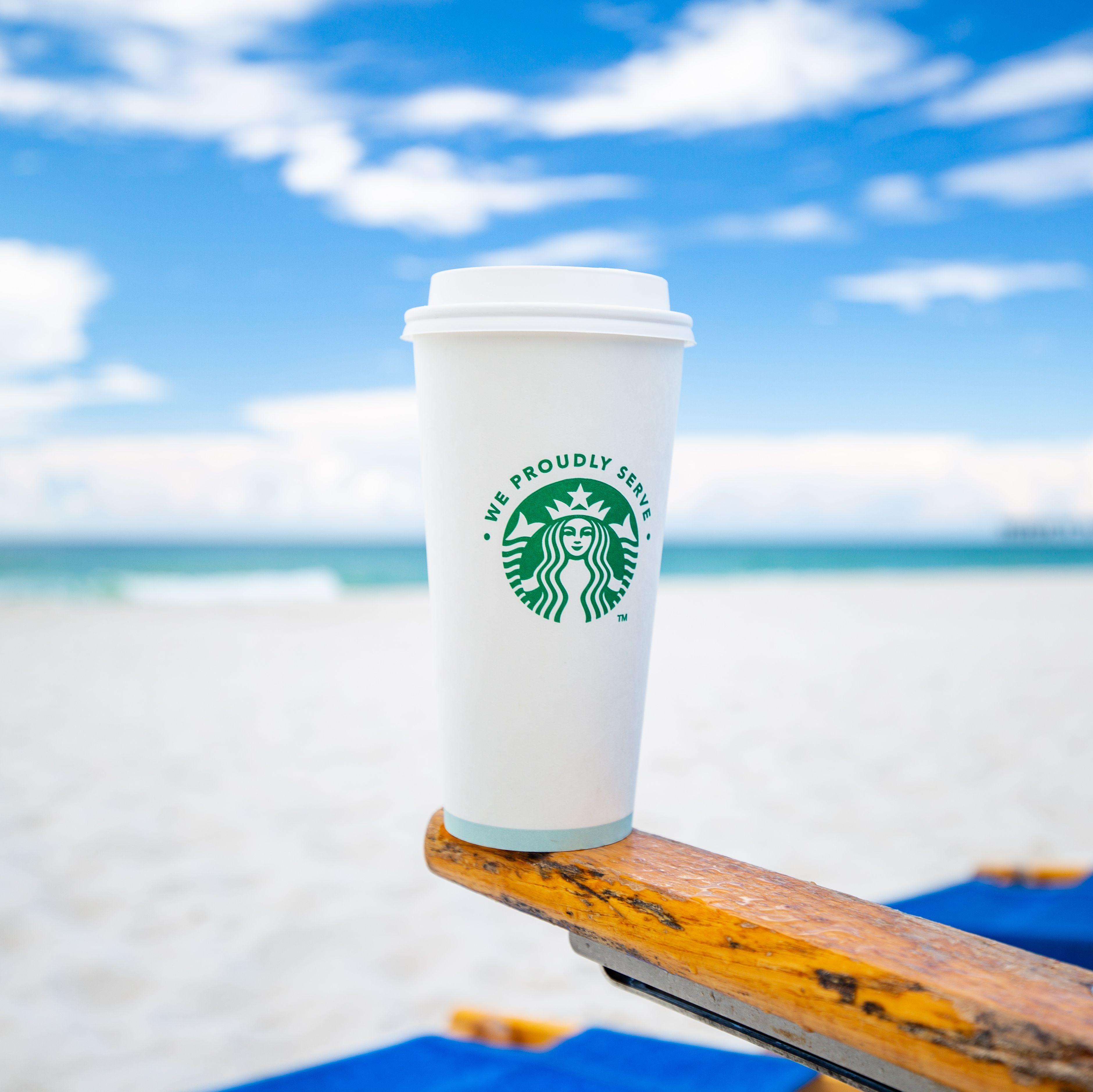 Proudly Serving Starbucks