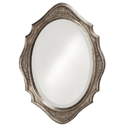 Trafalga Silver Leaf Oval Mirror Howard Elliott Collection Oval Mirrors Home Decor