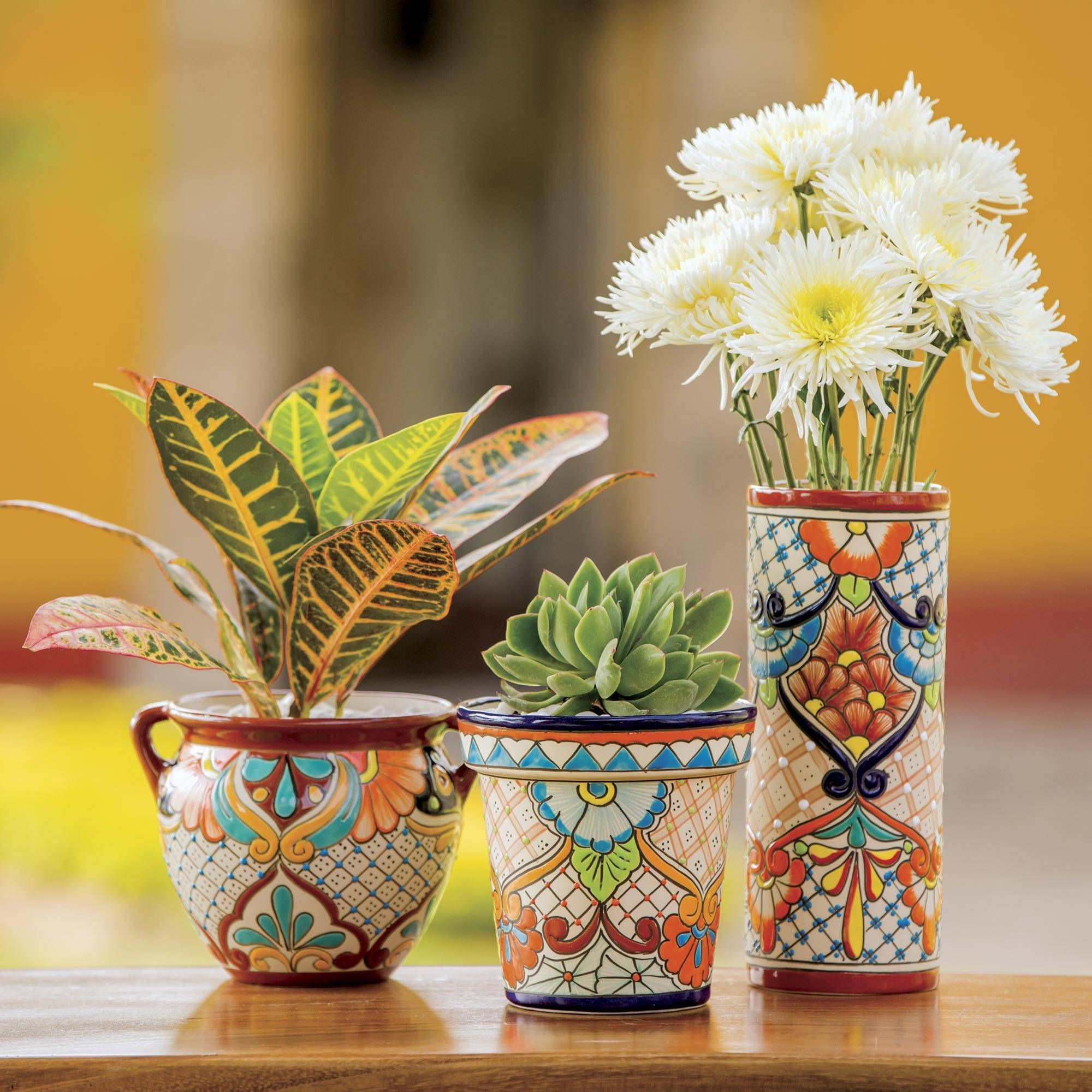 Ceramic Flower Pot Garden Fiesta In 2020 Ceramic Flower Pots Ceramic Flowers Flower Pots