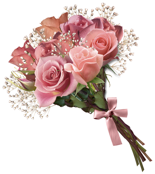 Pink rose bouquet png clipart flowers pinterest pink for Pink roses flower arrangements