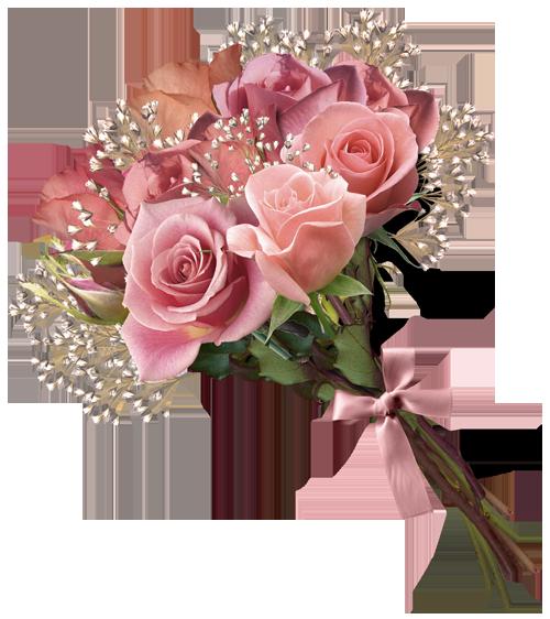 Pink Rose Bouquet PNG Clipart Rózsaszín rózsák, Csokor