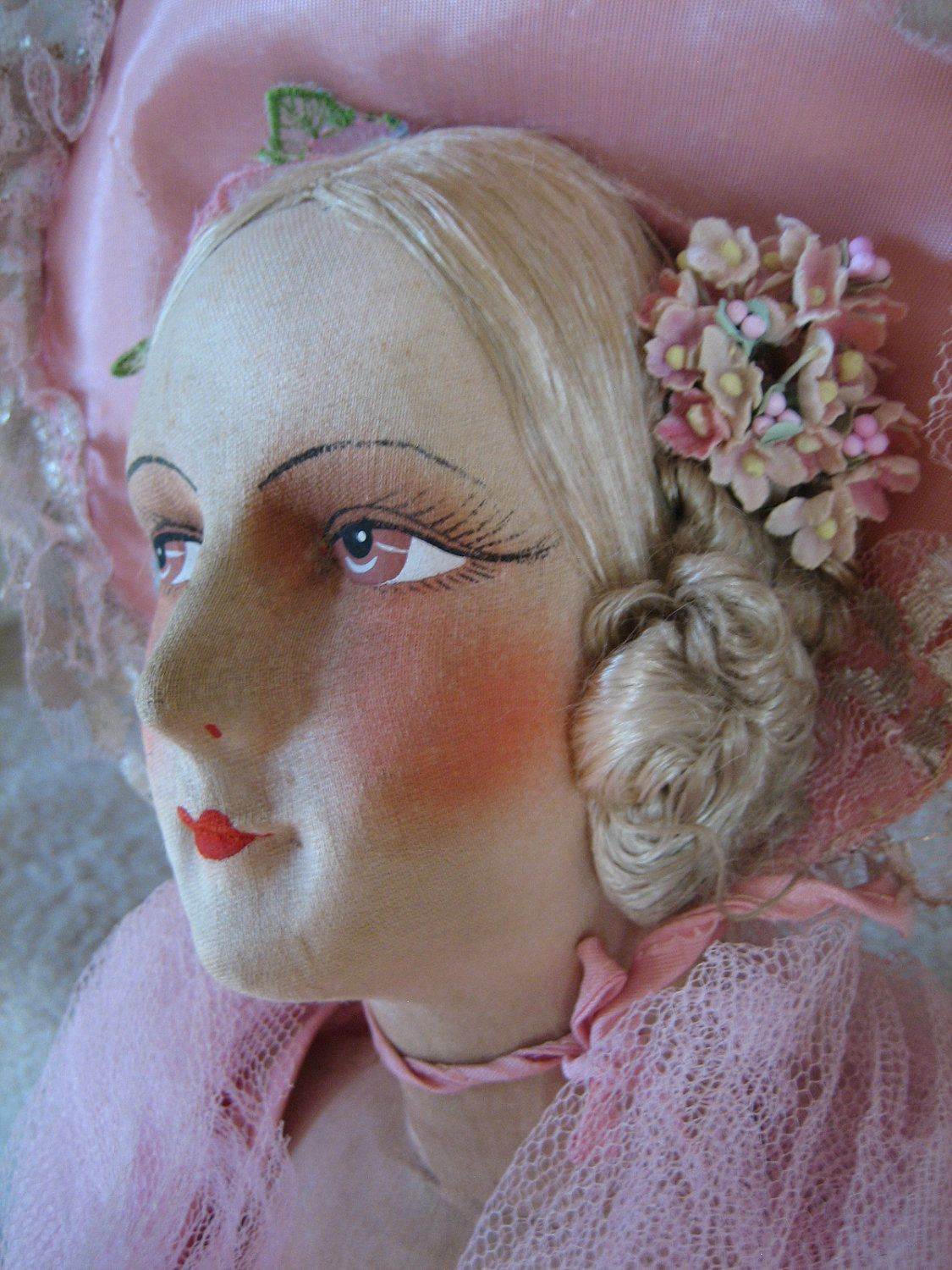 Large Antique Doll.  via Etsy.