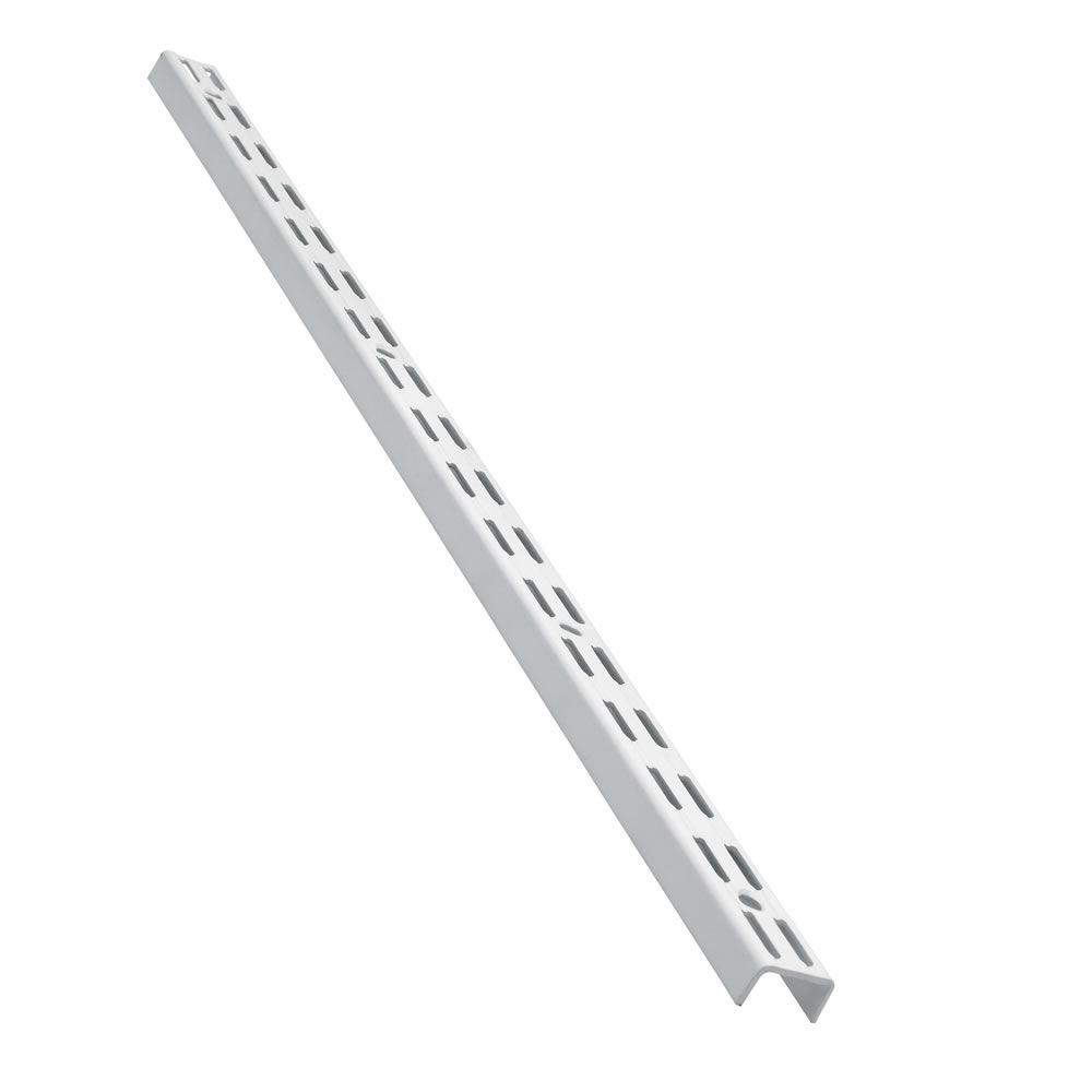 wall bar twin slot bracket white 100cm bedroom wall. Black Bedroom Furniture Sets. Home Design Ideas