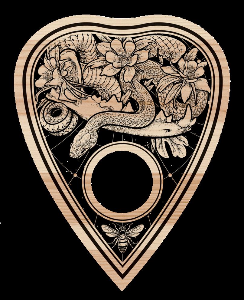 Ouija Board Planchette Detail By Scumbugg Deviantart Ouija Tattoo Witchcraft Tattoos Ouija