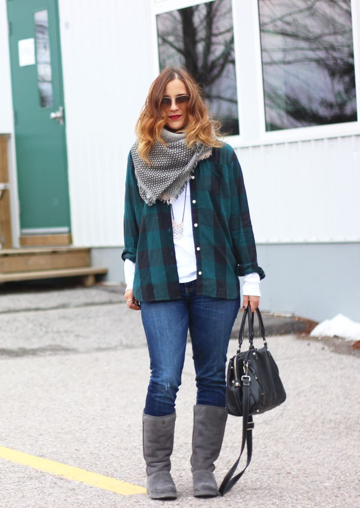0bfbf6322 Something About That | Flannel and UGG Classic Slim Boots |  http://somethingaboutthat